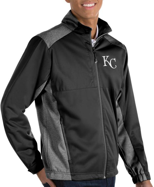 Antigua Men's Kansas City Royals Revolve Black Full-Zip Jacket product image