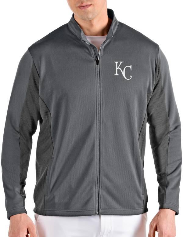 Antigua Men's Kansas City Royals Grey Passage Full-Zip Jacket product image