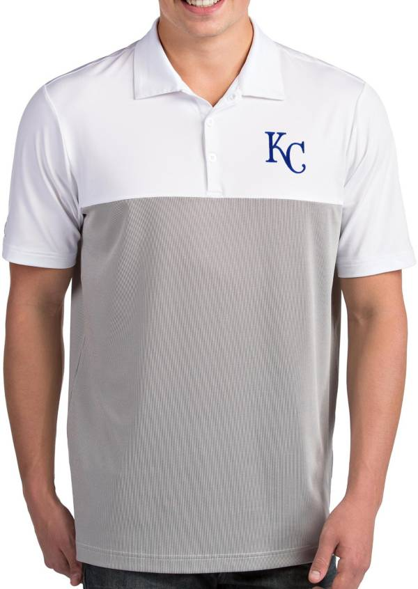 Antigua Men's Kansas City Royals Venture White Performance Polo product image