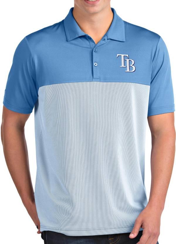 Antigua Men's Tampa Bay Rays Venture Light Blue Performance Polo product image