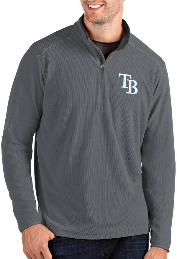 Antigua Men's Tampa Bay Rays Grey Glacier Quarter-Zip Pullover product image