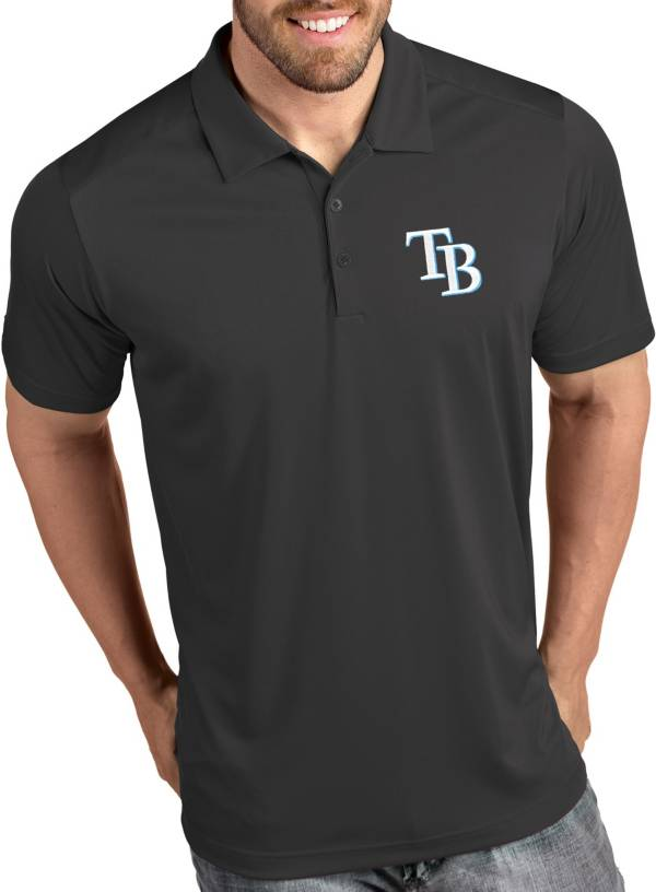 Antigua Men's Tampa Bay Rays Tribute Grey Performance  Polo product image