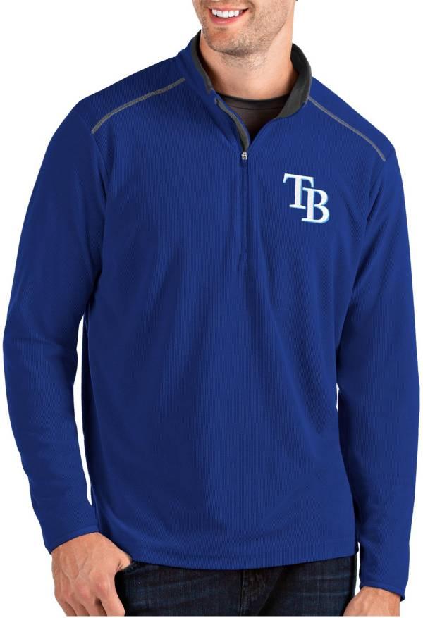 Antigua Men's Tampa Bay Rays Royal Glacier Quarter-Zip Pullover product image