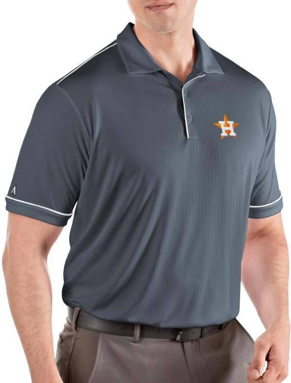Antigua Men's Houston Astros Salute Grey Performance Polo product image