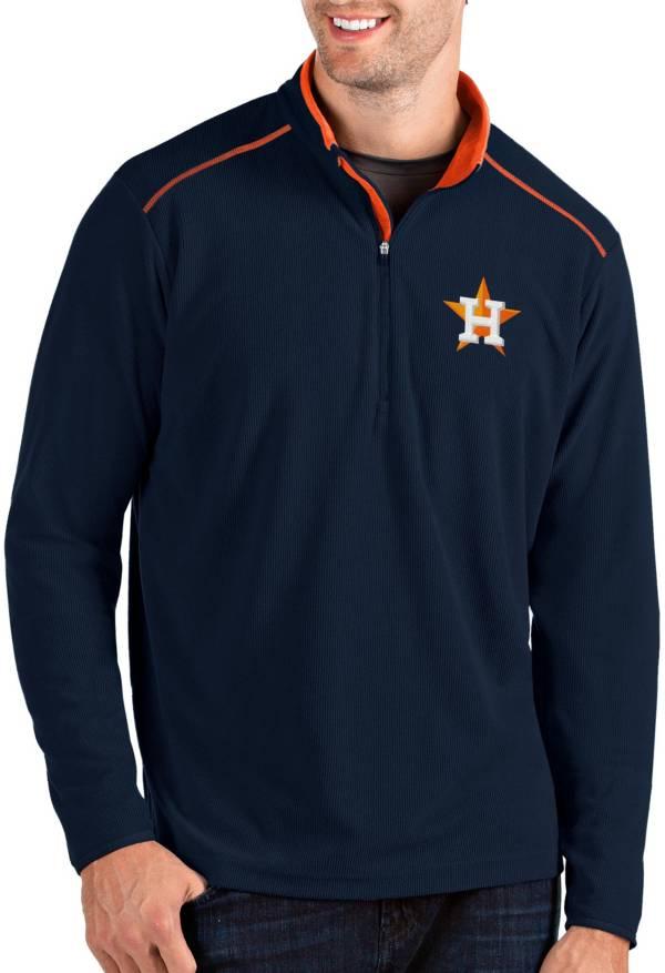 Antigua Men's Houston Astros Navy Glacier Quarter-Zip Pullover product image