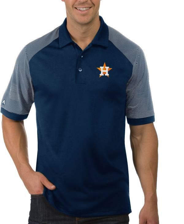 Antigua Men's Houston Astros Engage Navy Polo product image
