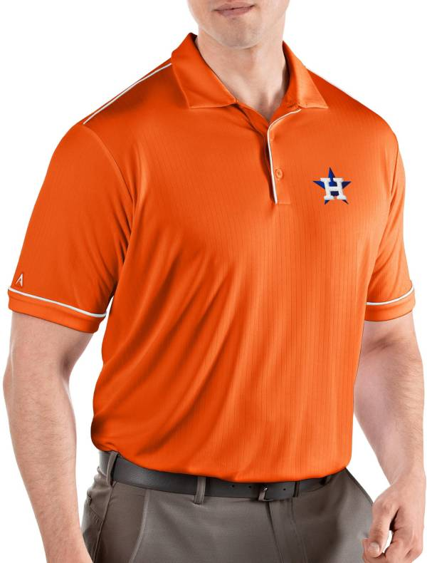 Antigua Men's Houston Astros Salute Orange Performance Polo product image