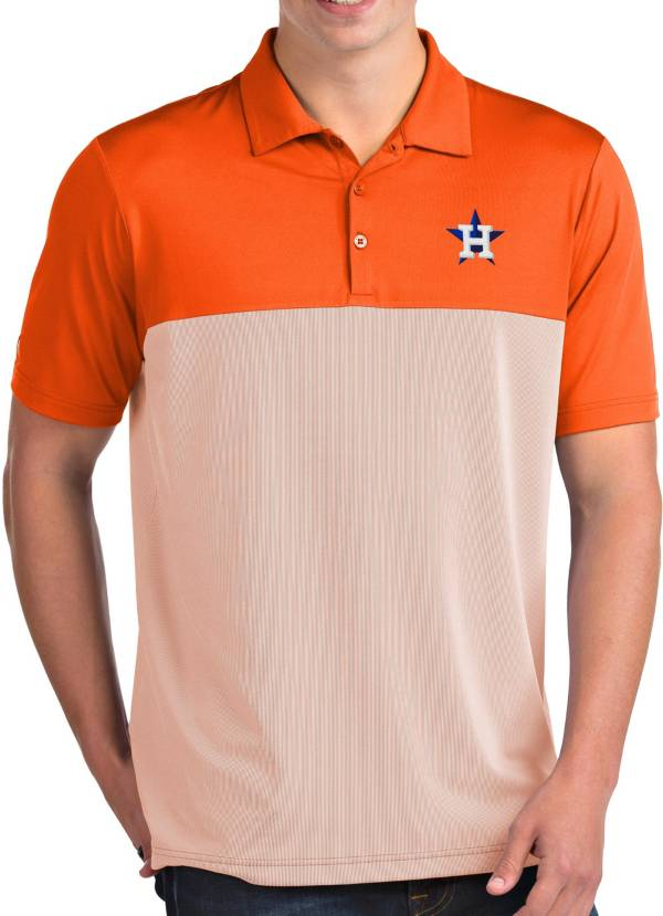 Antigua Men's Houston Astros Venture Orange Performance Polo product image