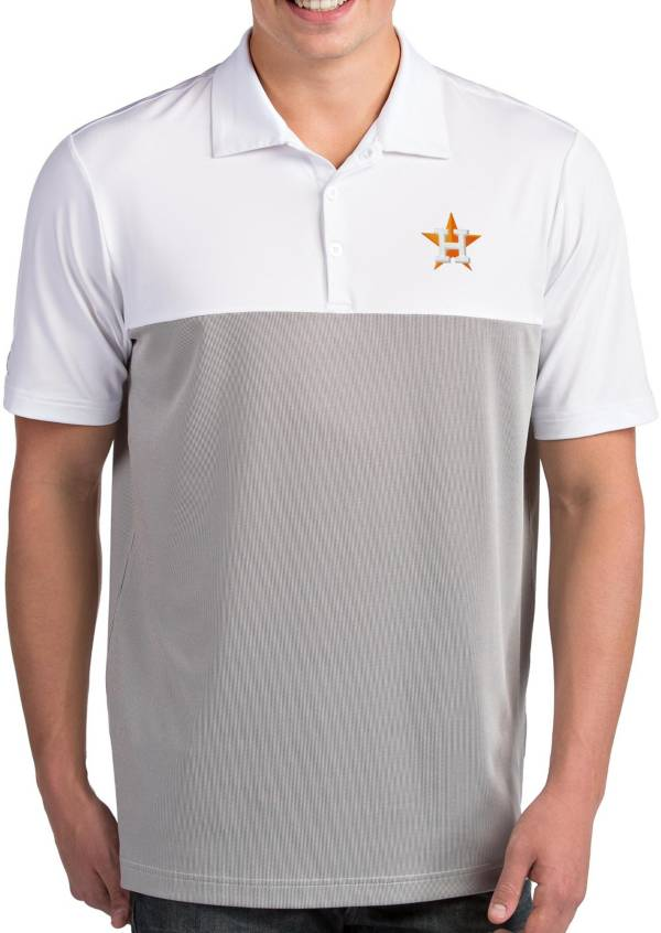 Antigua Men's Houston Astros Venture White Performance Polo product image