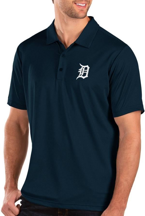 Antigua Men's Detroit Tigers Navy Balance Polo product image
