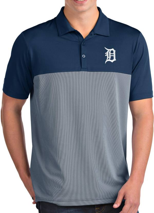 Antigua Men's Detroit Tigers Venture Navy Performance Polo product image