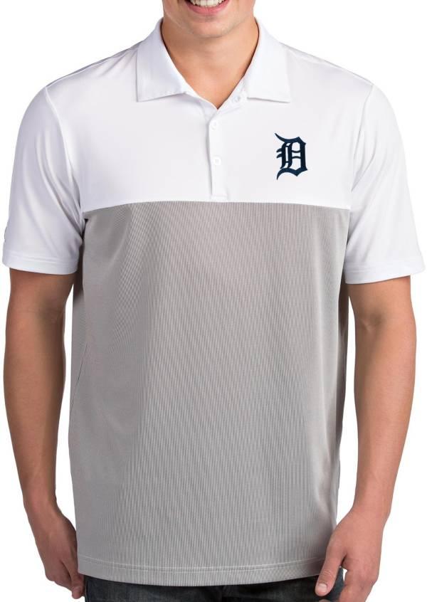 Antigua Men's Detroit Tigers Venture White Performance Polo product image