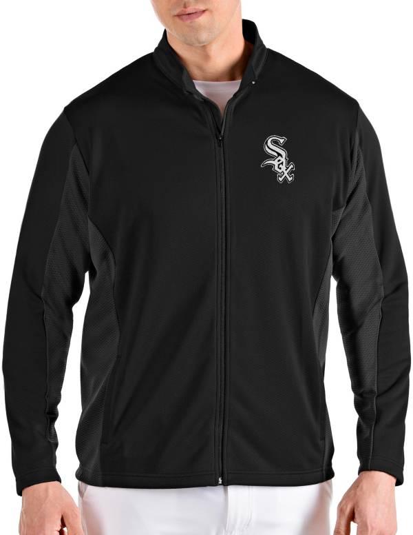 Antigua Men's Chicago White Sox Black Passage Full-Zip Jacket product image