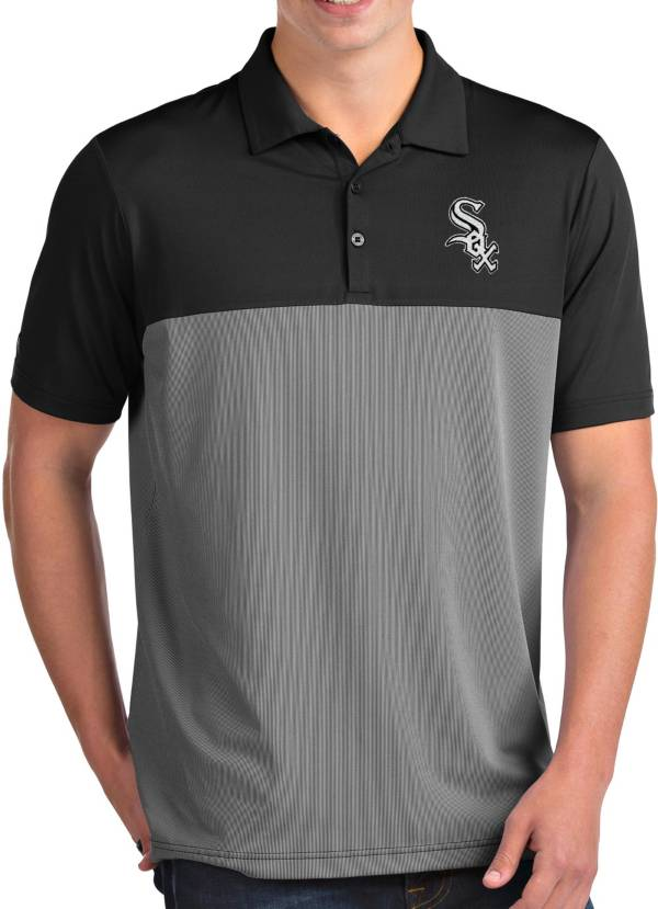 Antigua Men's Chicago White Sox Venture Black Performance Polo product image