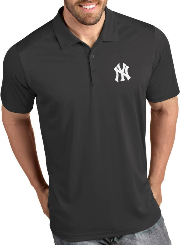 Antigua Men's New York Yankees Tribute Grey Performance  Polo product image