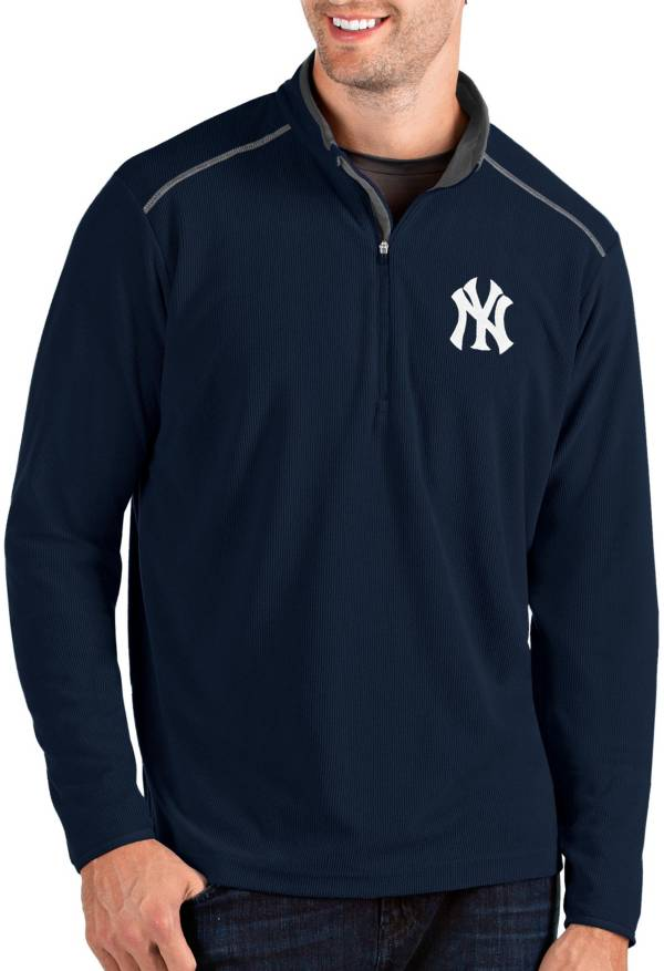 Antigua Men's New York Yankees Navy Glacier Quarter-Zip Pullover product image