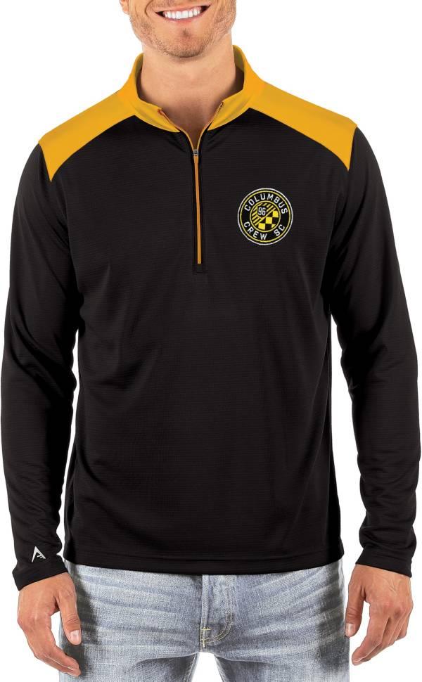 Antigua Men's Columbus Crew Velocity Black Quarter-Zip Pullover product image