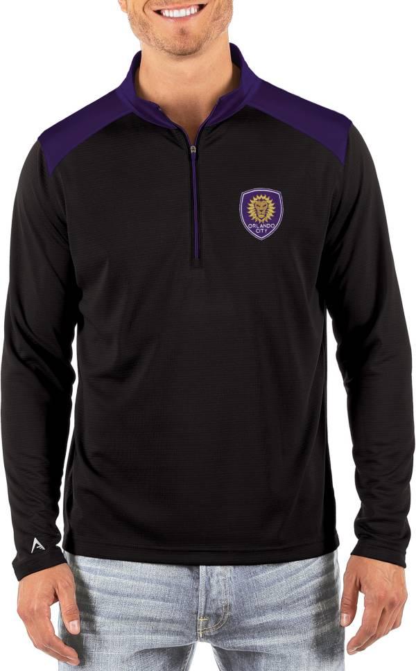 Antigua Men's Orlando City Velocity Black Quarter-Zip Pullover product image