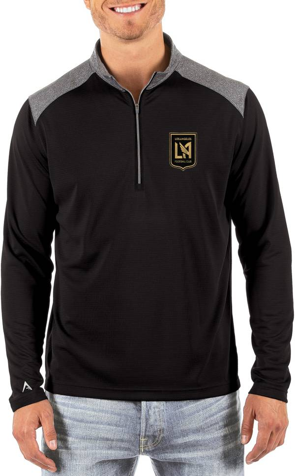 Antigua Men's Los Angeles FC Velocity Black Quarter-Zip Pullover product image