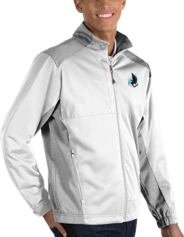 Antigua Men's Minnesota United FC Revolve White Full-Zip Jacket product image