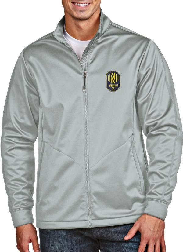 Antigua Men's Nashville SC Golf Grey Full-Zip Jacket product image