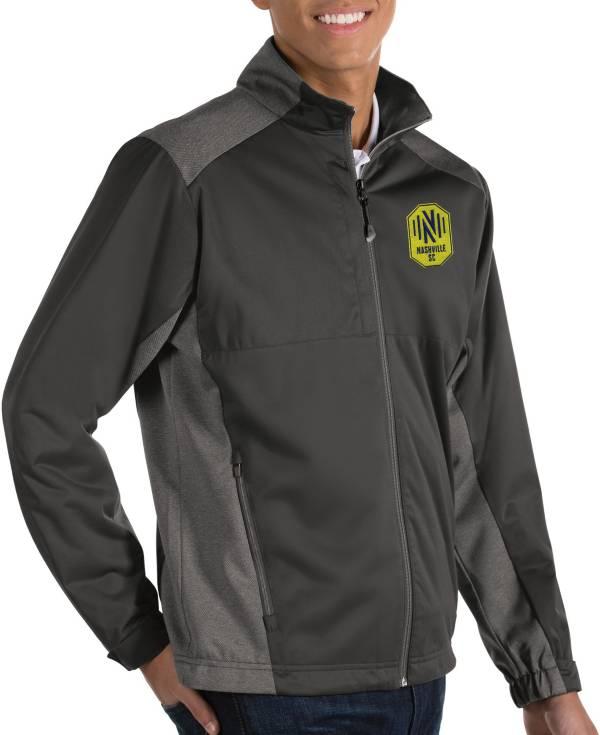 Antigua Men's Nashville SC Revolve Grey Full-Zip Jacket product image