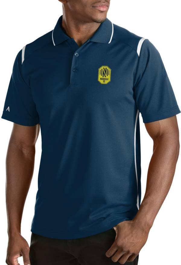 Antigua Men's Nashville SC Merit Navy Polo product image