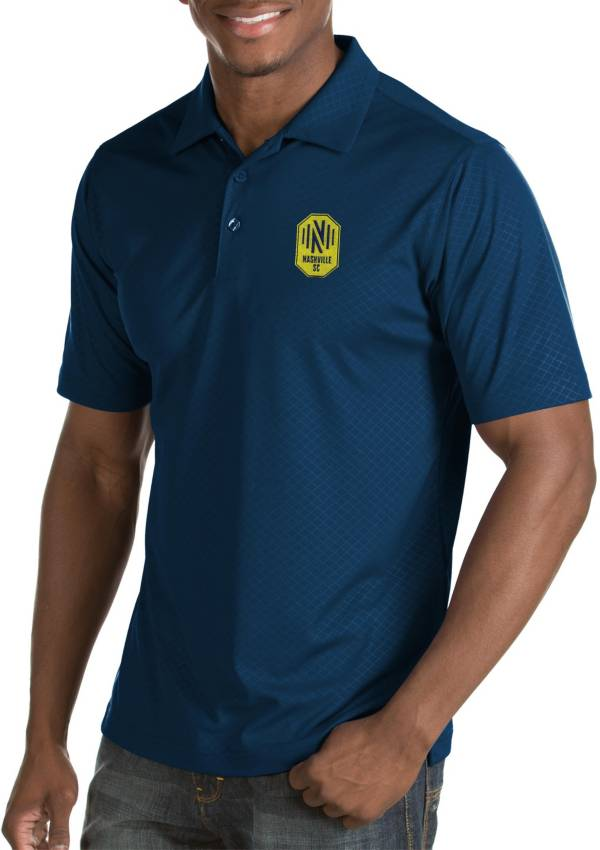 Antigua Men's Nashville SC Inspire Navy Polo product image