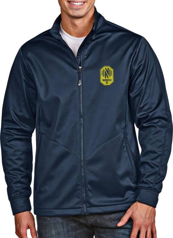 Antigua Men's Nashville SC Golf Navy Full-Zip Jacket product image