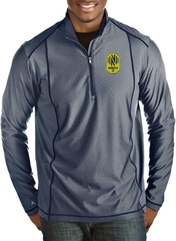 Antigua Men's Nashville SC Tempo Navy Quarter-Zip Pullover product image