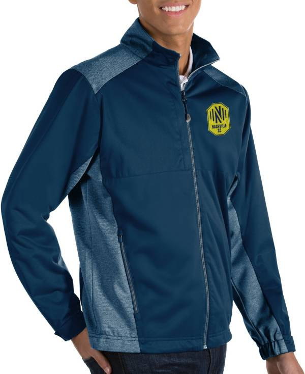 Antigua Men's Nashville SC Revolve Navy Full-Zip Jacket product image