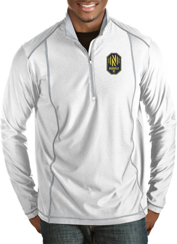Antigua Men's Nashville SC Tempo White Quarter-Zip Pullover product image