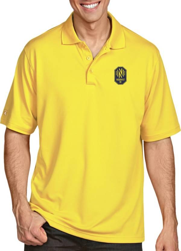 Antigua Men's Nashville SC Pique Yellow Polo product image