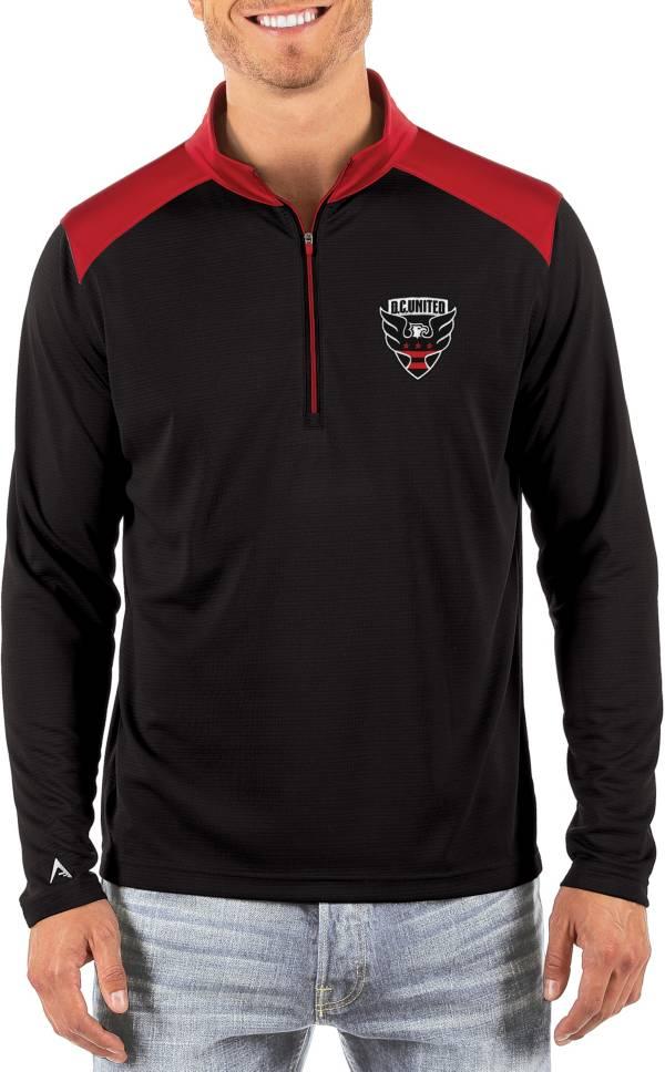 Antigua Men's D.C. United Velocity Black Quarter-Zip Pullover product image