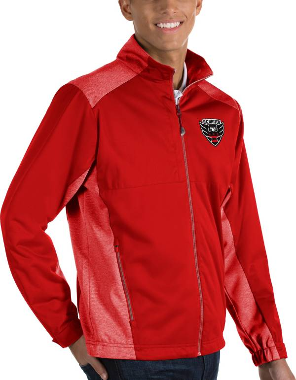 Antigua Men's D.C United Revolve Red Full-Zip Jacket product image