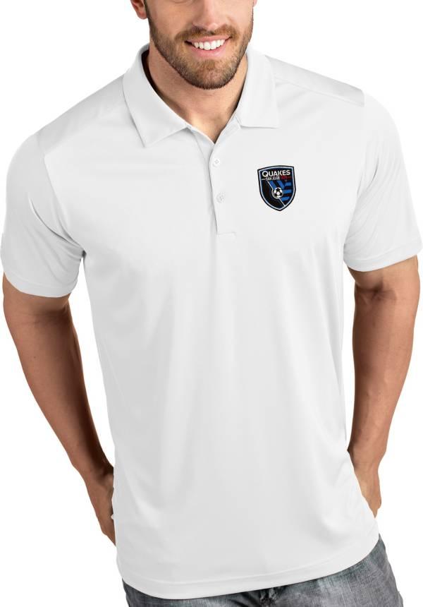 Antigua Men's San Jose Earthquakes Tribute White Polo product image