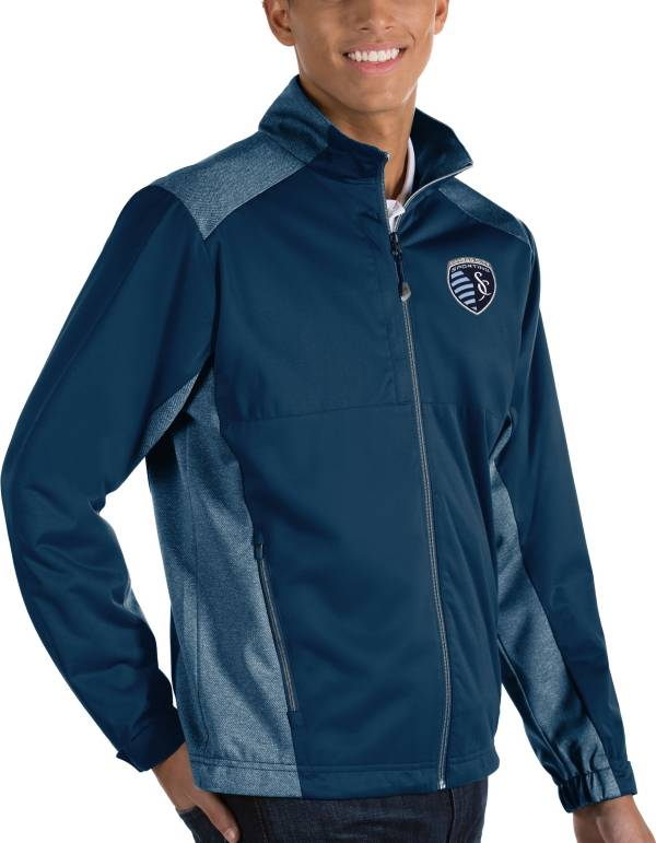 Antigua Men's Sporting Kansas City Revolve Navy Full-Zip Jacket product image