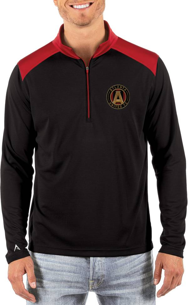 Antigua Men's Atlanta United Velocity Black Quarter-Zip Pullover product image