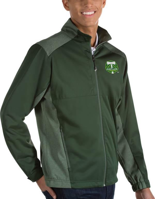 Antigua Men's Portland Timbers Revolve Green Full-Zip Jacket product image