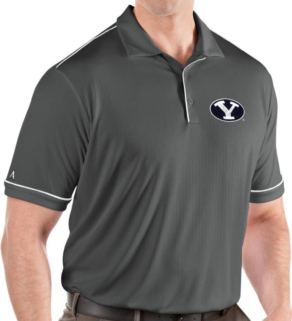 Antigua Men's BYU Cougars Grey Salute Performance Polo product image