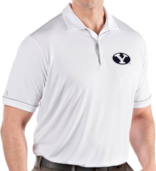 Antigua Men's BYU Cougars Salute Performance White Polo product image