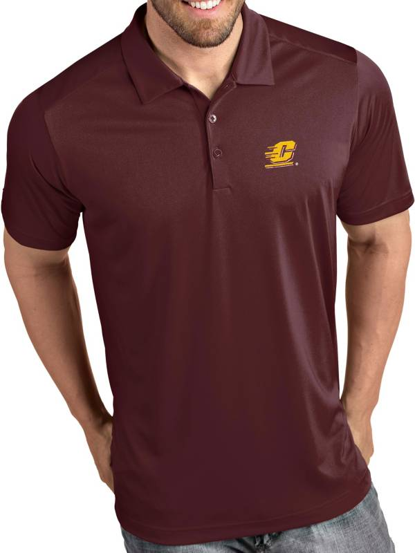Antigua Men's Central Michigan Chippewas Maroon Tribute Performance Polo product image