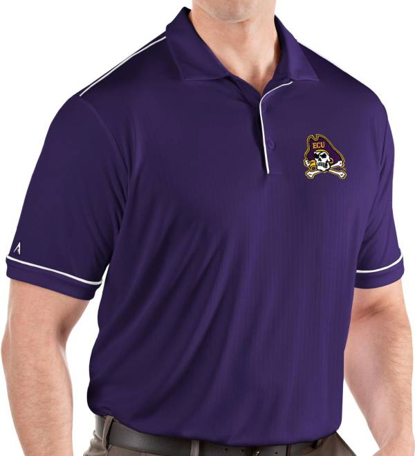 Antigua Men's East Carolina Pirates Purple Salute Performance Polo product image