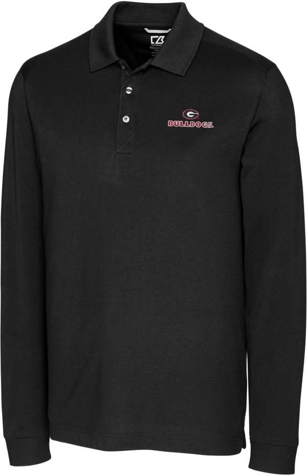 Cutter & Buck Men's Georgia Bulldogs Advantage Long Sleeve Black Polo product image