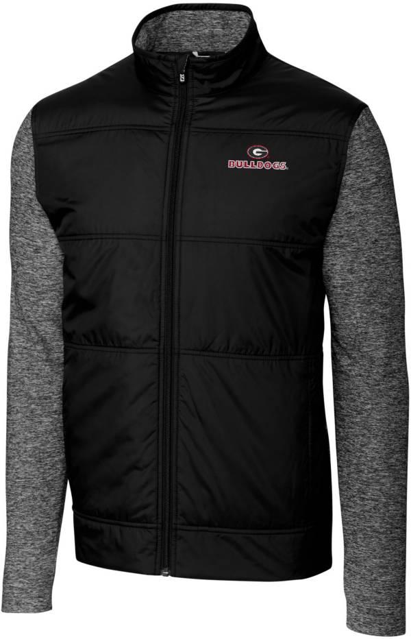 Cutter & Buck Men's Georgia Bulldogs Stealth Full-Zip Black Jacket product image