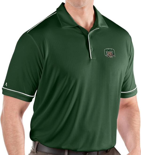 Antigua Men's Ohio Bobcats Green Salute Performance Polo product image