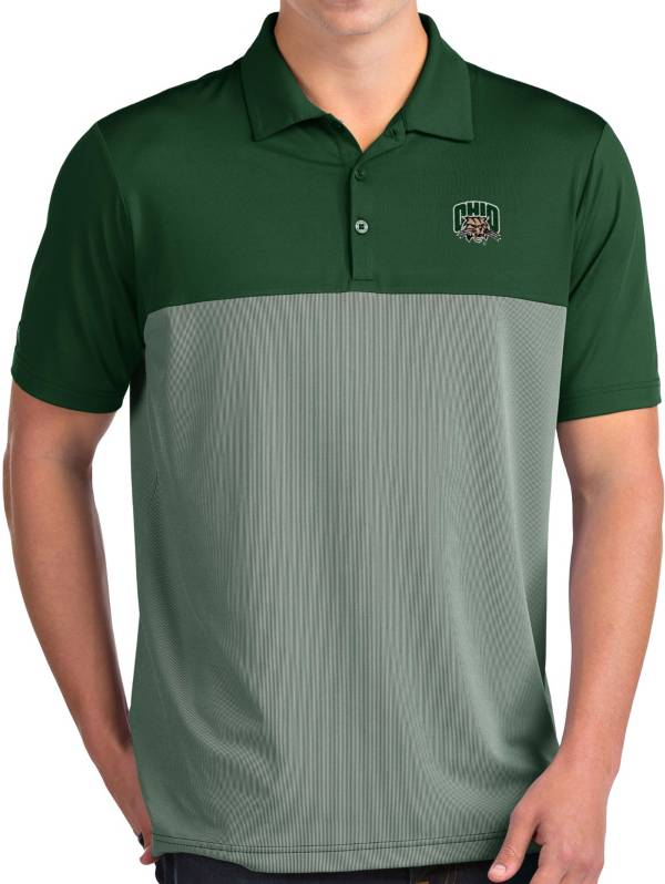 Antigua Men's Ohio Bobcats Green Venture Polo product image