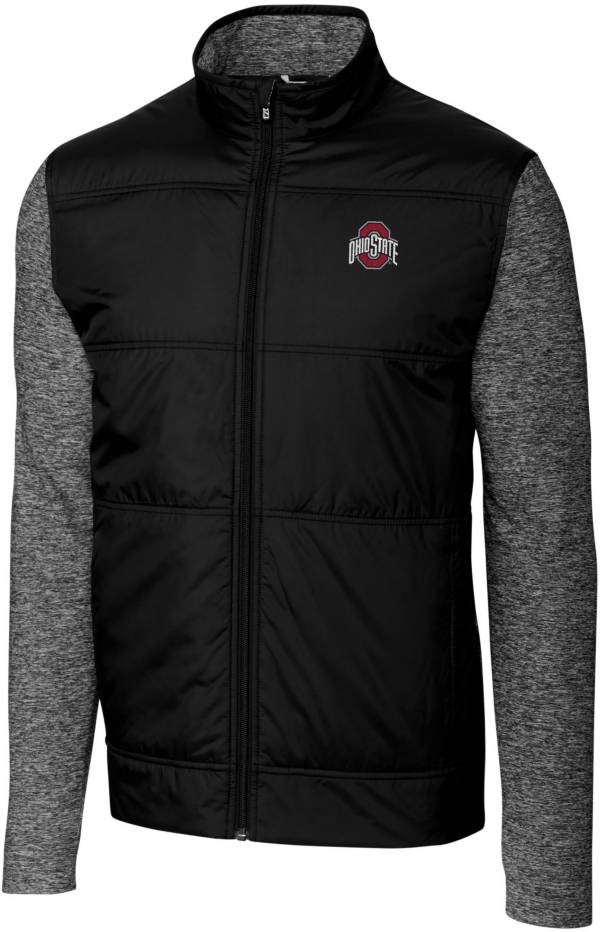 Cutter & Buck Men's Ohio State Buckeyes Stealth Full-Zip Black Jacket product image