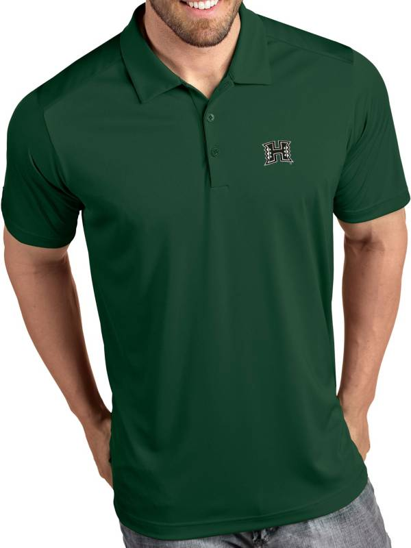Antigua Men's Hawai'i Warriors Green Tribute Performance Polo product image