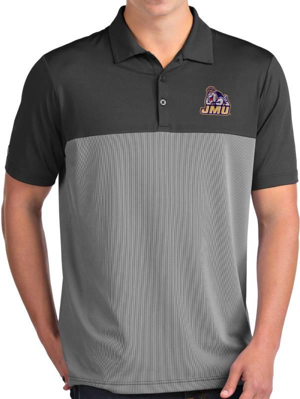 Antigua Men's James Madison Dukes Grey Venture Polo product image